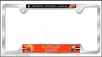 NFL Cleveland Browns Heavy Duty Chrome Metal License Plate Frame