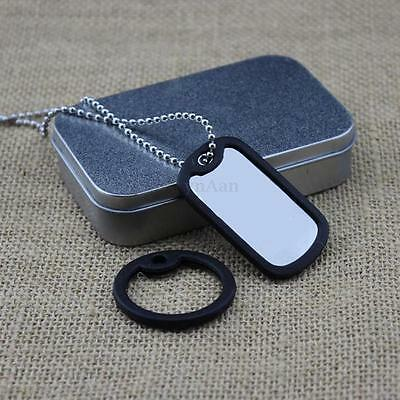 Silicone Rubber Dog Tag Noise Silencer Bumper Fastener Round Ring For Military