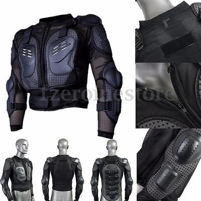 Motorcycle Full Body Armor Jacket Spine Chest Shoulder Protection Riding Gear