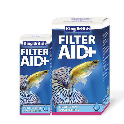 King British Aquarium Filter Aid Safe Water Treatment Fish Tank Ammonia Nitrite