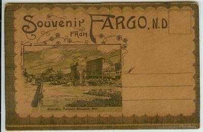 c1910 Fargo North Dakota souvenir view folder - 24 views