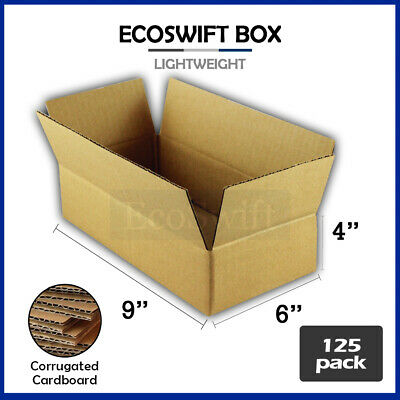 125 9x6x4 Cardboard Packing Mailing Moving Shipping Boxes Corrugated Box Cartons