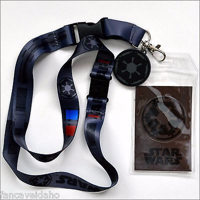 Star Wars Darth Vader Costume Lanyard ID Holder with Rubber Charm