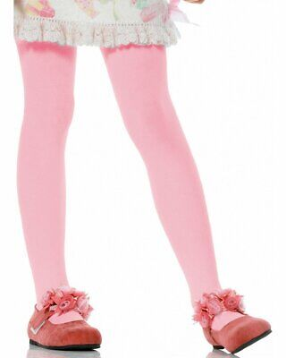 A686 Girls Tights Costume Halloween Pantyhose Hosiery Stockings Opaque Pink