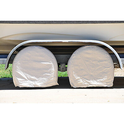 "4 Canvas Wheel Tire Covers RV, Camper, Trailer, Boat, 31""-40"" Dia, 9"" Wide Tires"