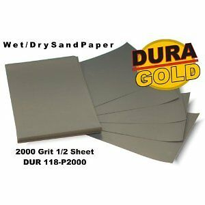 "DURA-GOLD 2000 Grit 5-1/2""x9"" Wet/Dry Color Sand Sandpaper Block Auto/Car Paint"