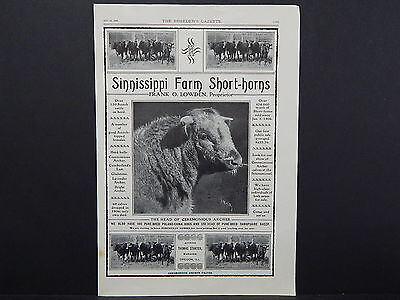 The Breeder's Gazette, Nov. 28, 1906, One Advertising Page, Double Sided S2#12