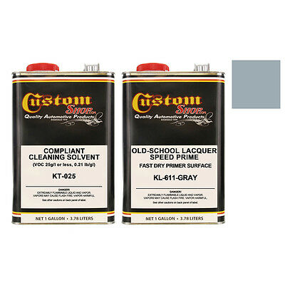 GRAY LACQUER PRIMER SURFACER Old -School Speed Prime KIT-AUTO PAINT Gallon