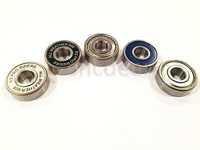 QUALITY 608 BEARINGS 8x22x7mm zz & 2rs ALL TYPES CHROME STAINLESS HYBRID CERAMIC
