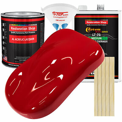 Viper Red Gallon Kit Single Stage ACRYLIC LACQUER Car Auto Body Paint Kit