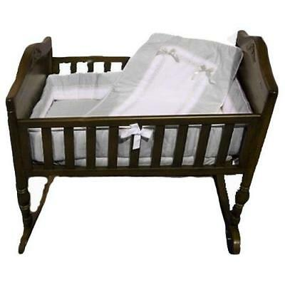 Baby Doll Bedding Royal Cradle Bedding Set, Grey New