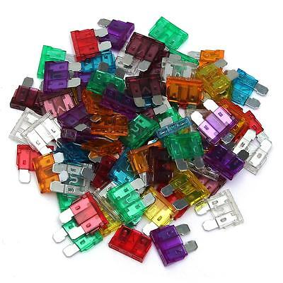 80pc Medium-sized Blade Fuse Auto Car Truck Motorcycle 3/5/10/15/20/25/30/40Amp
