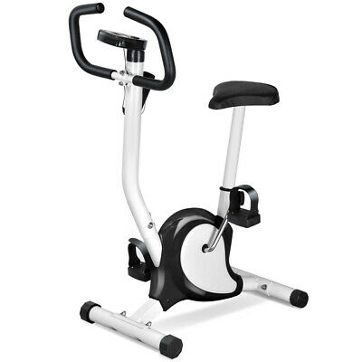 Black Exercise Training Bike Cardio Workout Seat Adjustable Resistance Fitness
