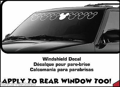 """Mickey Mouse Large 38"""" x 5"""" Car Auto Windshield Strip Decal Xpressionz"""