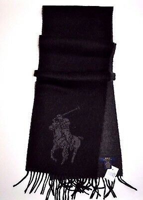 NEW RALPH LAUREN POLO MEN'S SCARF  BUSINESS GIFT SOFT WOOL BIG PONY Made ITALY