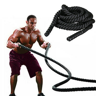 Training Battling 38mm Battle Rope Sport Exercise Fitness Power Gym Bootcamp New