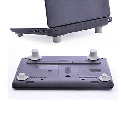 4Set Laptop Notebook Computer Cooling Feet Stand Holder Heat Reduction Gray Pad