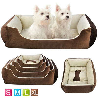 Luxury Washable Pet Dog Cat Bed Cushion Soft Warm Basket Comfy Four Sizes