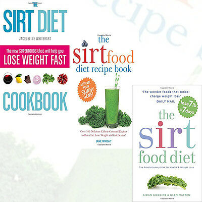 The Sirt Diet Recipe Book Collection The Sirtfood Diet Cookbook 3 Books Set New