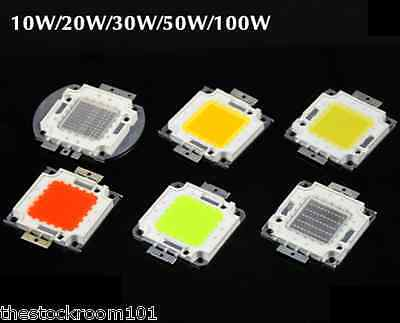 10W 20W 30W 50W 100W SMD LED Bright Integrated Chip High Power Bulb Floodlight