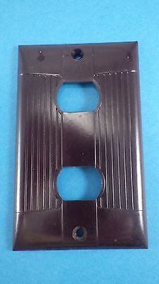 Nos Vintage 1940's NOS Eagle Bakelite Brown Despard Double 2 Switch Cover Plate