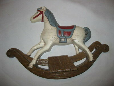 Vintage 1988 Home Interiors HOMCO Rocking Horse Plaque