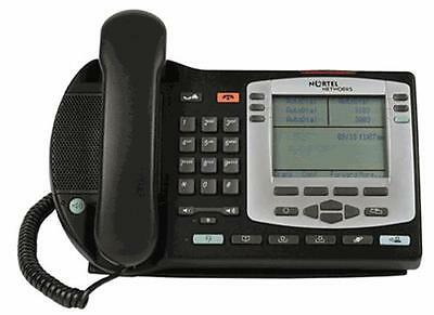 Fully Refurbished Nortel i2004 IP Phone NTDU92 - TEXT with Silver Bezel