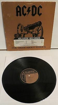 AC/DC For Those About To Rock USA PROMO LP Vinyl Record