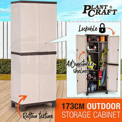 NEW PLANTCRAFT Lockable Outdoor Storage Cabinet - Cupboard Garage Carport Shed