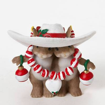 Charming Tails 4023662 I Love your Style 2011 NIB Mice under Christmas Hat