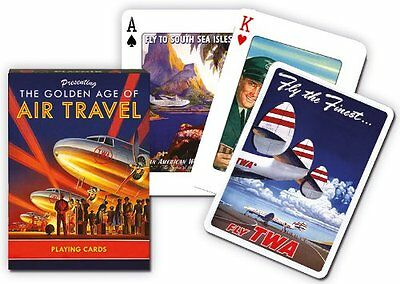 Golden Age of Air Travel set of 52 playing cards (gib)