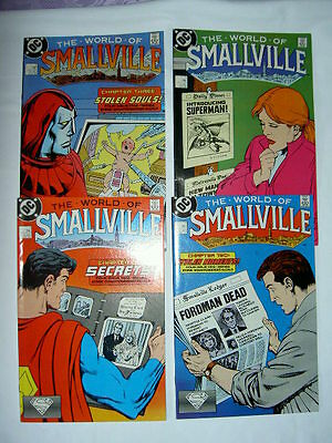 "SUPERMAN : ""WORLD of SMALLVILLE"" : COMPLETE 4 part SERIES by JOHN BYRNE. DC.1988"