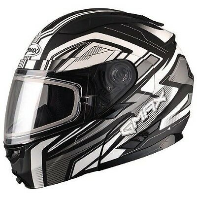 Flat Black Helmet Modular Vortex Full Snowmobile Inner Flip Lens Electric Shield