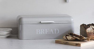 Contemporary style rectangular Bread Bin with hinged lid