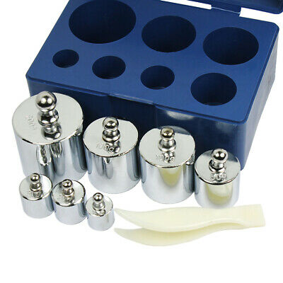 7 pcs calibration weight set 10g 20g 50g 100g 200g  -- 500g  total weight