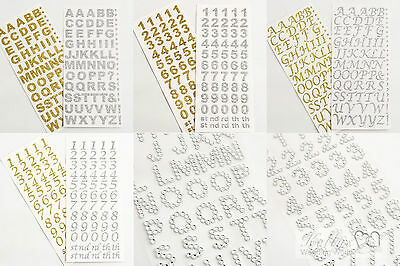 Self Adhesive Letters and Numbers Glitter & Diamante
