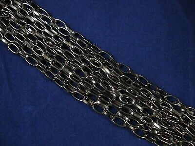 1m Chain Dark Nickel 8mm Jewelry Jewellery Making DIY Link FREE POSTAGE