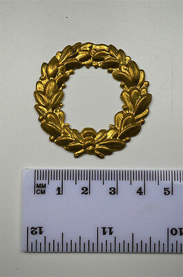 Original antique pressed brass furniture mount mirror cartouche emblem H11