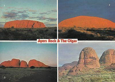 Post Card - Ayers Rock & The Olgas