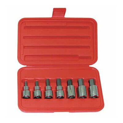 Wright Tool 405 1/2-inch Drive 7-Piece Hex Socket Set with Carrying Case