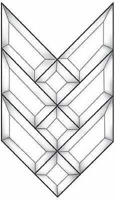 Stained Glass Supplies Small Prairie Arrow Style Bevel Cluster EC110