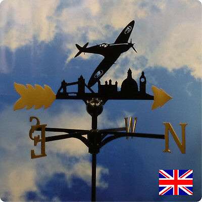 Extra Large High Quality British Made Spitfire Weathervane.(39GL)