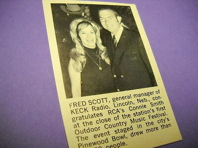 CONNIE SMITH at radio KECK Lincoln, NE vintage music biz promo picture with text