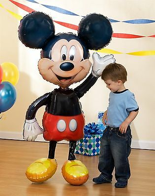 "Mickey Mouse 52"" Jumbo Airwalker Foil Balloon Party Decorating Supplies"