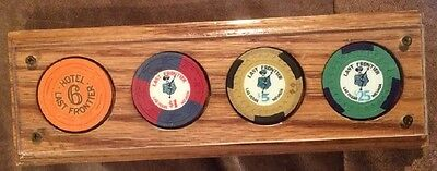 Last Frontier Original Casino Chips Roulette, $1.00 $5.00 $25.00 Paperweight