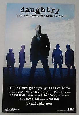 """Daughtry - It's Not Over... The Hits So Far Promo Poster * 11"""" x 17"""""""