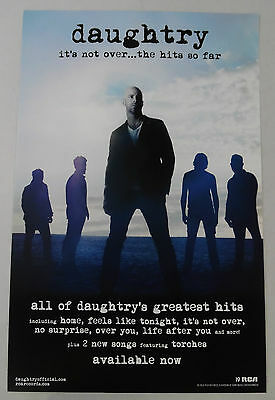 "Daughtry - It's Not Over... The Hits So Far Promo Poster * 11"" x 17"""