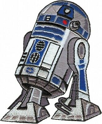Star Wars R2-D2 Droid Standing Figure Image Embroidered Die-Cut Patch NEW UNUSED