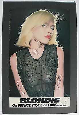 BLONDIE s/t 1976 Private Stock AUTOGRAPHED Promo POSTER Debbie Harry PUNK