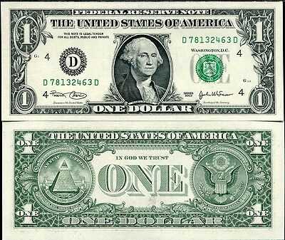 """UNITED STATES 1 DOLLAR USA 2003 P 515a (CLEVELAND OH) """"D"""" UNC"""